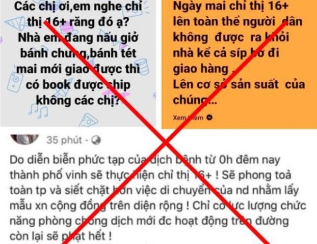 Nghệ An: Xử phạt 25 triệu đồng đối với 3 cá nhân đăng thông tin bịa đặt lên mạng xã hội về công tác phòng, chống dịch Covid-19
