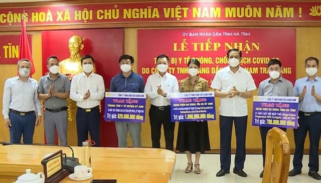 Hà Tĩnh: Các doanh nghiệp hỗ trợ thiết bị y tế phòng, chống dịch Covid-19 trị giá hàng tỷ đồng
