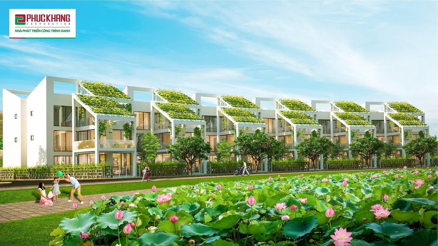 Không gian sống yên bình, hòa mình vào thiên nhiên tại dự án Làng Sen Việt Nam