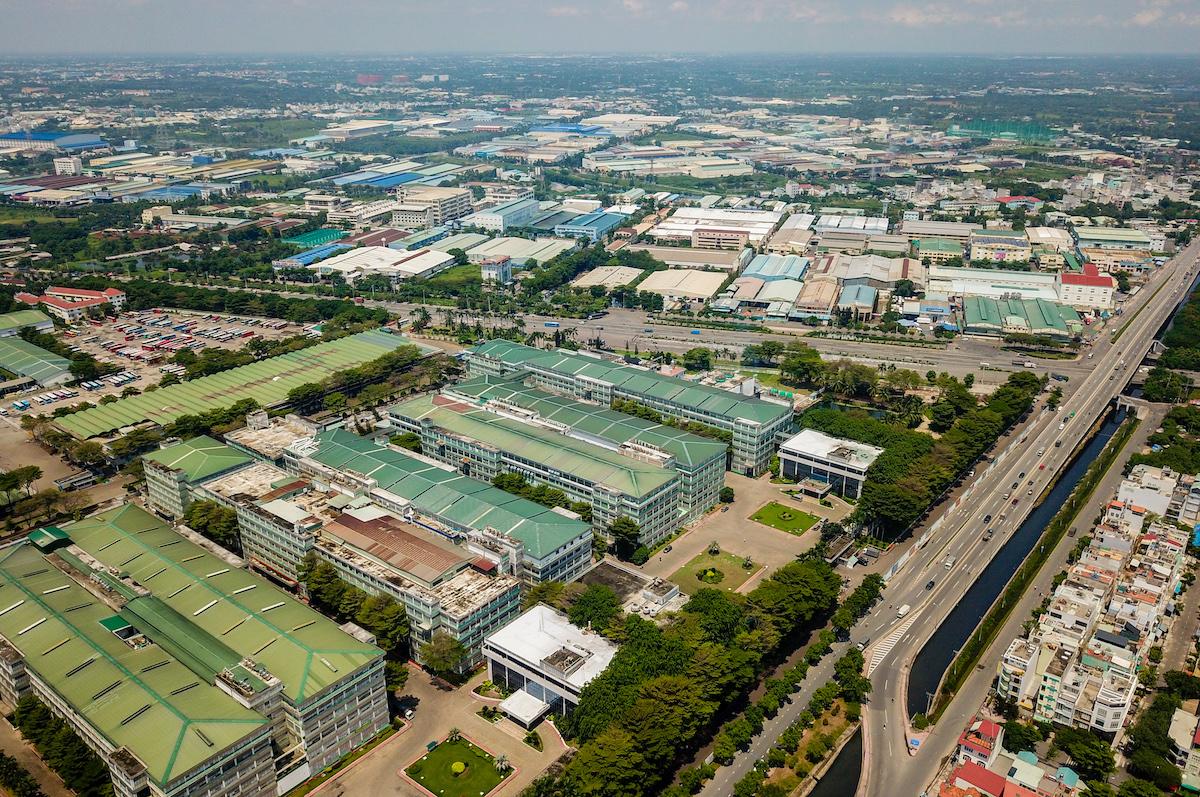 Khu công nghiệp Tân Tạo thuộc quận Bình Tân, nơi tập trung hàng trăm công ty sản xuất trong và ngoài nước. (Ảnh: Quỳnh Trần)