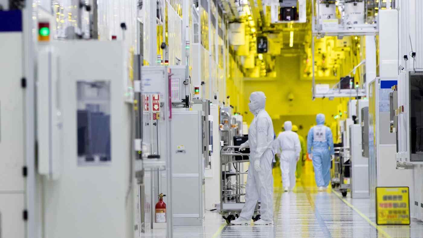 Các nhà sản xuất Hàn Quốc bao gồm Samsung đã vượt qua các công ty Nhật Bản để dẫn đầu về chip nhớ và màn hình LCD. (Ảnh do Samsung cung cấp)