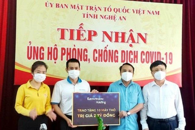 Nghệ An: Doanh nghiệp, tổ chức, cá nhân ủng hộ công tác phòng chống dịch Covid-19 của tỉnh với tổng trị giá hơn 145 tỷ đồng