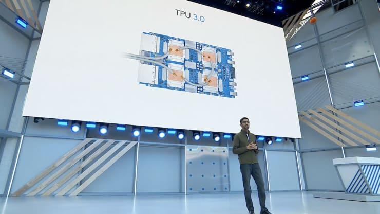 Giám đốc điều hành Google Sundar Pichai nói về chip trí tuệ nhân tạo thế hệ thứ ba của công ty.