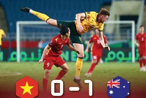 Đội tuyển bóng đá Việt Nam thua sát nút đội Úc 0-1