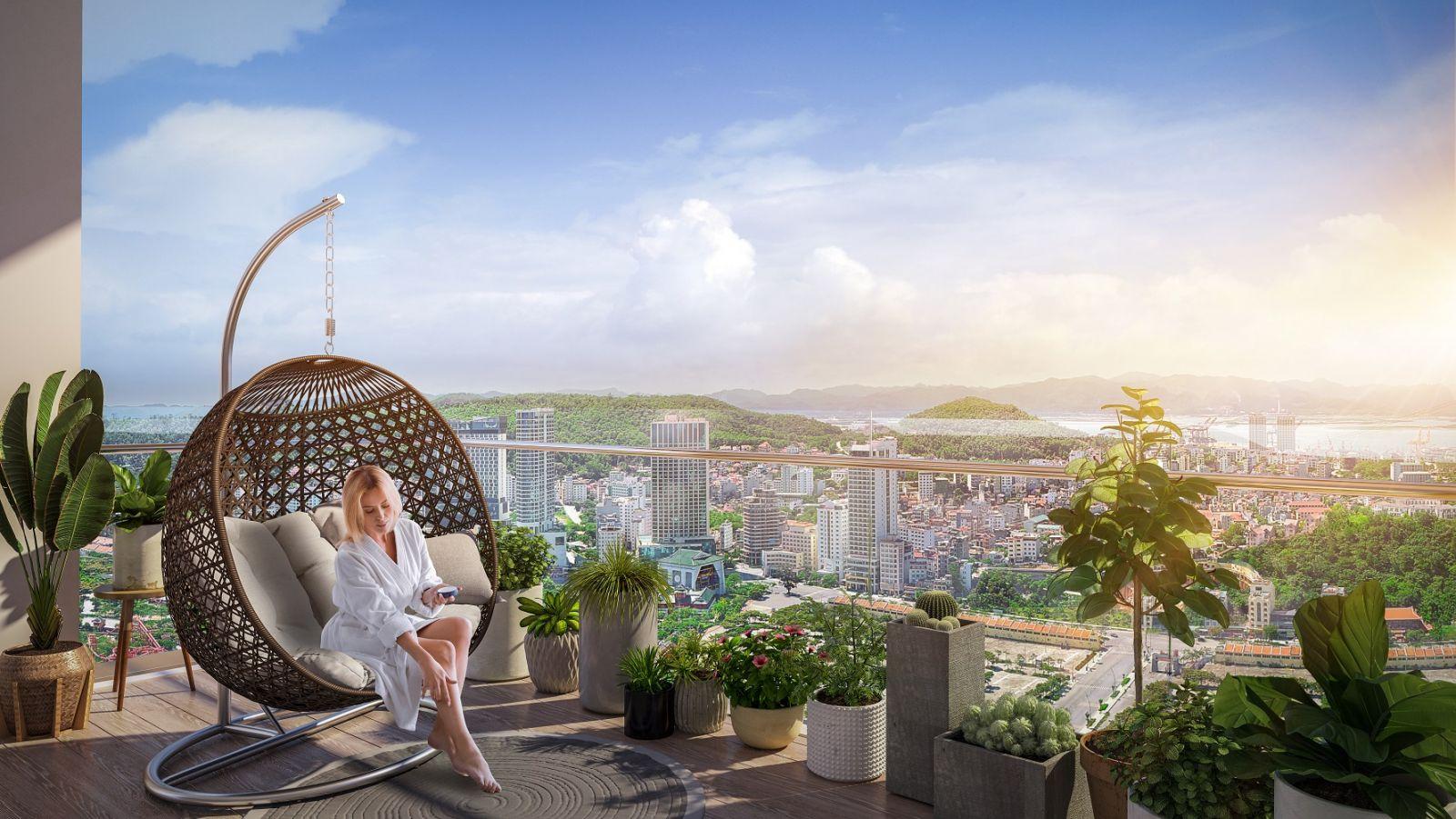 Riêng một tầm nhìn độc bản của dòng căn hộ The Platinum tại Sun Marina Town (Ảnh phối cảnh minh họa)