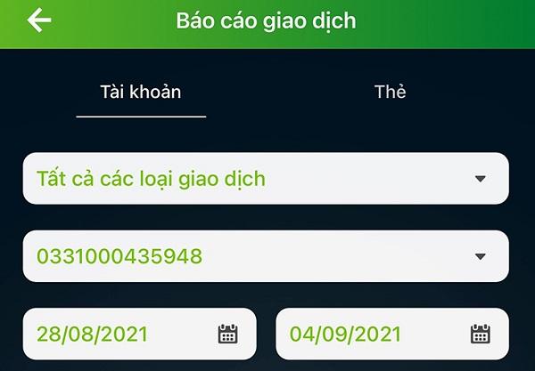 Sao kê trực tuyến tại ứng dụng VCB - Mobile Banking của ngân hàng Vietcombank