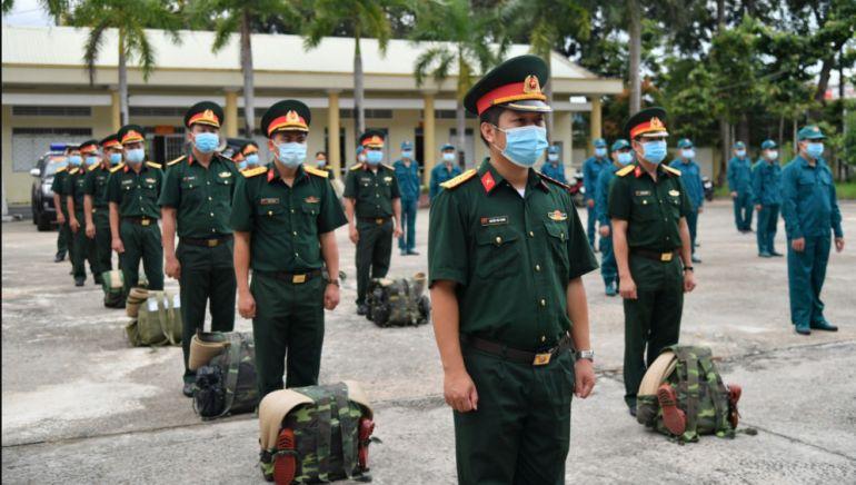 Kiên Giang: 50 cán bộ, chiến sĩ tăng cường cho thành phố Rạch Giá chống dịch