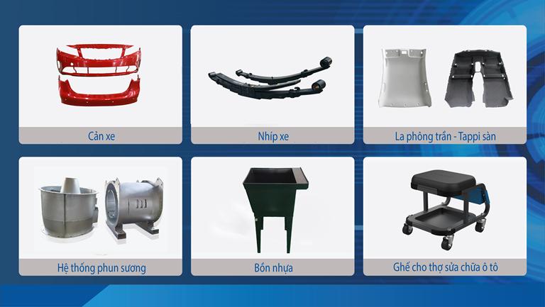 Các sản phẩm linh kiện phụ tùng và cơ khí xuất khẩu của THACO AUTO