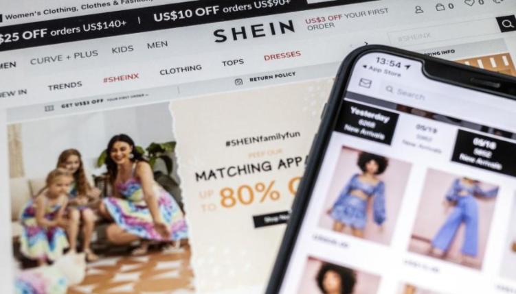 Trang web của SHEIN trên thị trường quốc tế