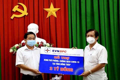 EVNSPC hỗ trợ 3 tỷ đồng giúp Đồng Tháp chống dịch