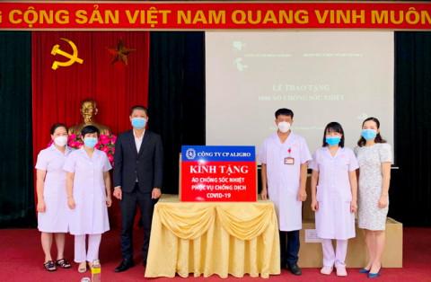 Công ty CP Aligro ủng hộ Bệnh viện Y học cổ truyền (Bộ Công an) 1.000 áo chống sốc nhiệt