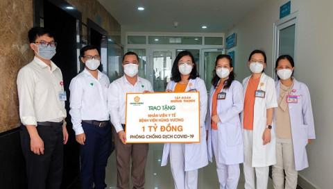 Tập đoàn Hưng Thịnh: Tiếp sức đội ngũ y tế Bệnh viện Hùng Vương và các học sinh có hoàn cảnh khó khăn tại TP.HCM