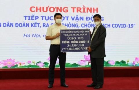 Kiều bào ủng hộ hơn 60 tỷ đồng cùng nhiều trang thiết bị, vật phẩm y tế hỗ trợ Việt Nam chống Covid-19