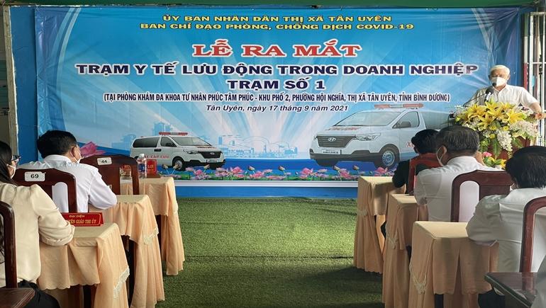 T.X Tân Uyên – Bình Dương: Ra mắt Trạm Y tế lưu động trong doanh nghiệp