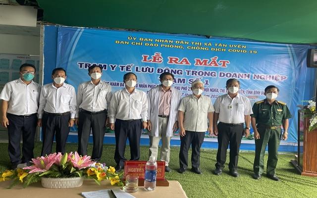 Ông Nguyễn Văn Lợi đánh giá cao việc cơ sở y tế tư nhân tham gia  vào công tác phòng, chống dịch, góp phần cùng cơ sở y tế công chăm lo sức khỏe cho người dân, người lao động trên địa bàn