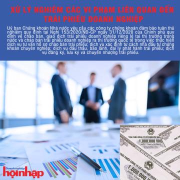 Xử lý nghiêm các vi phạm liên quan đến trái phiếu doanh nghiệp