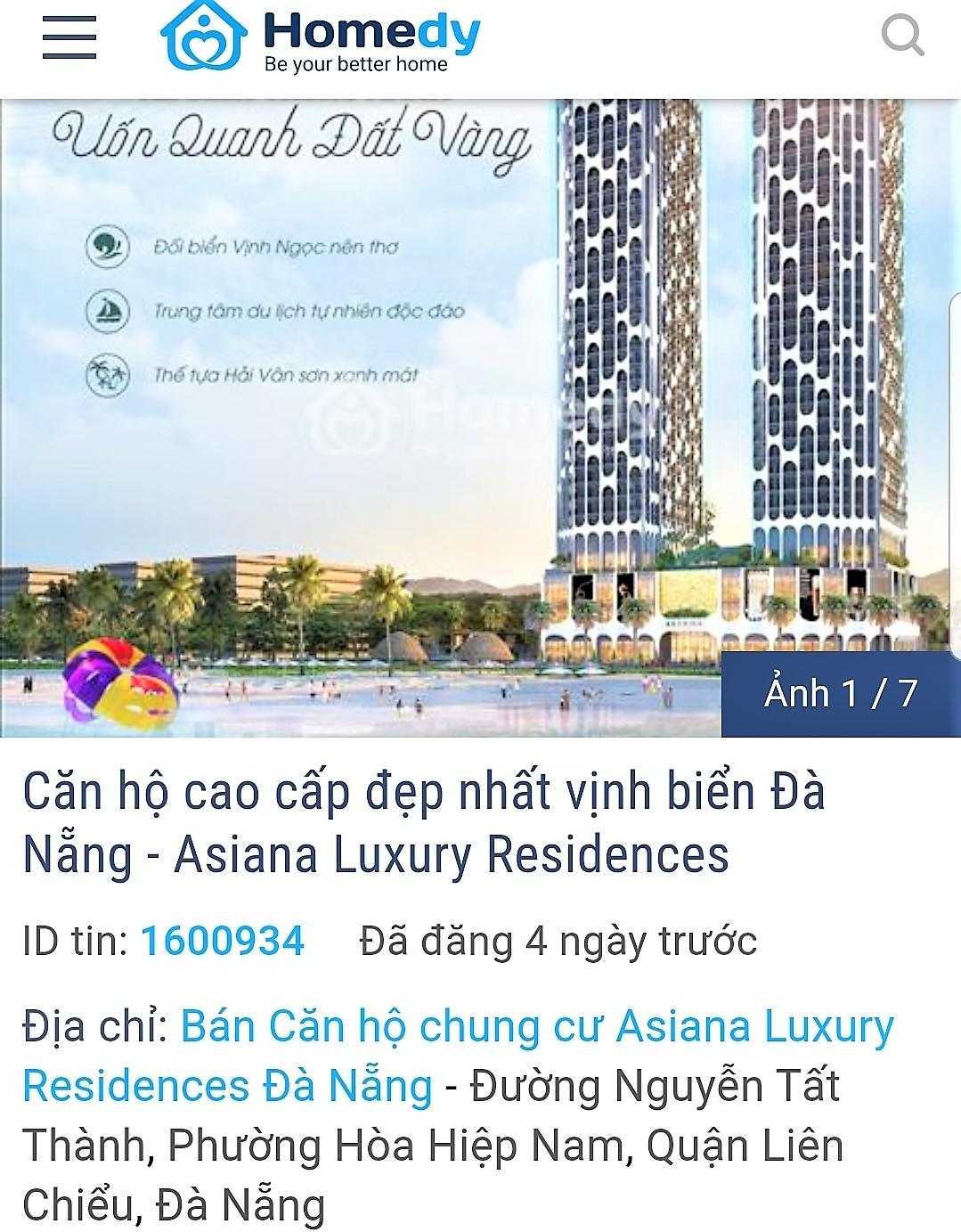 Căn hộ dự án Asiana được rao bán rầm rộ khi chưa được cấp phép, với mức giá được rao bán tư 50 – 53triệu/m2.