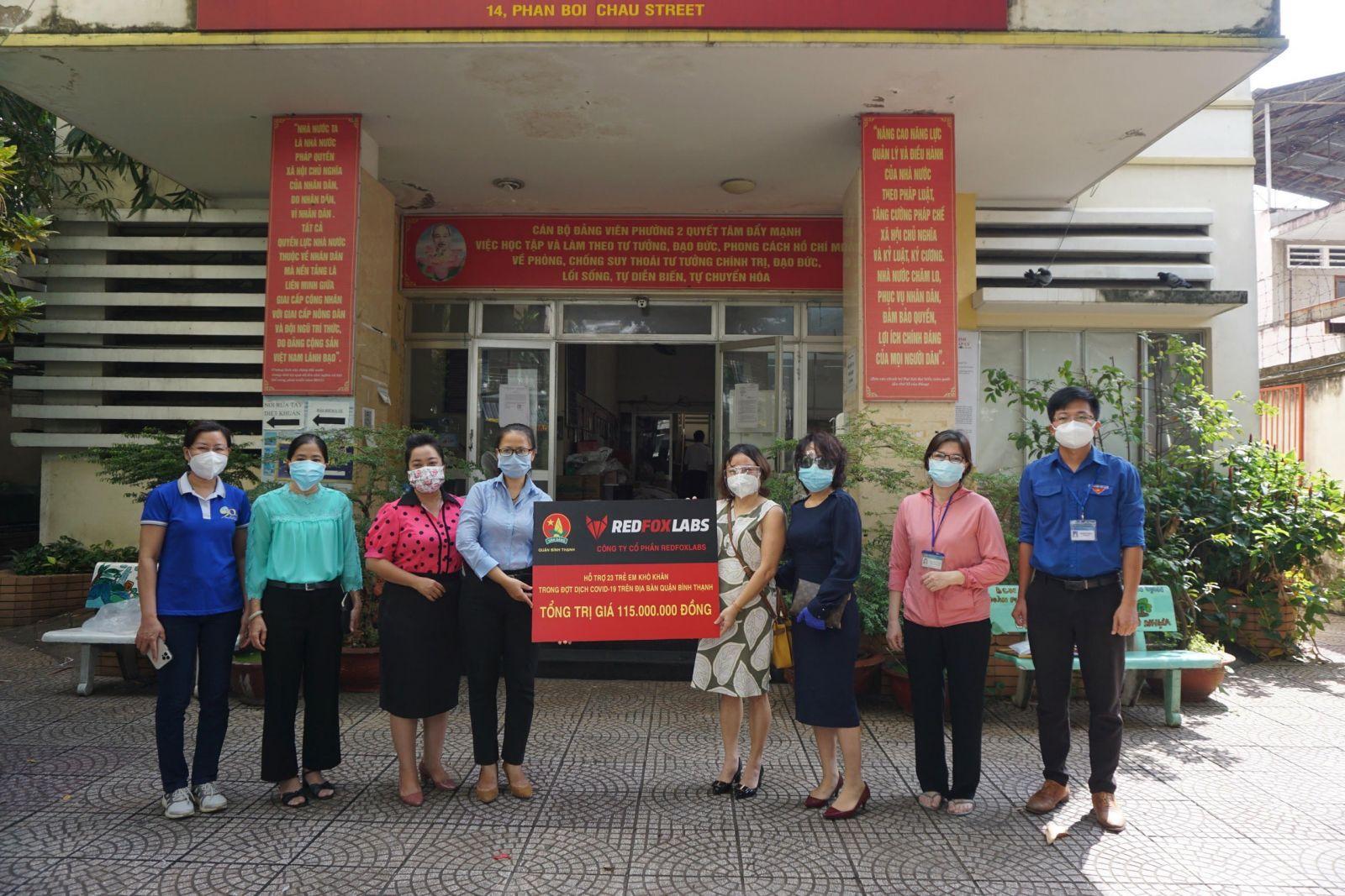 Hỗ trợ 35 trẻ em mồ côi cha hoặc mẹ vì COVID-19 tại Quận Bình Thạnh, TP.HCM