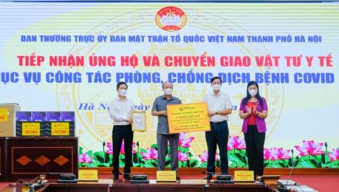 T&T Group trao tặng 1 triệu bộ kit xét nghiệm trị giá 162 tỷ đồng hỗ trợ Hà Nội chống dịch Covid-19