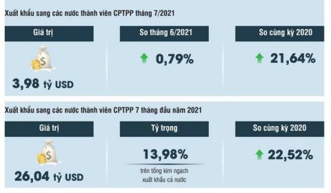 Nhiều mặt hàng xuất nhập khẩu tăng trưởng nhờ Hiệp định CPTPP
