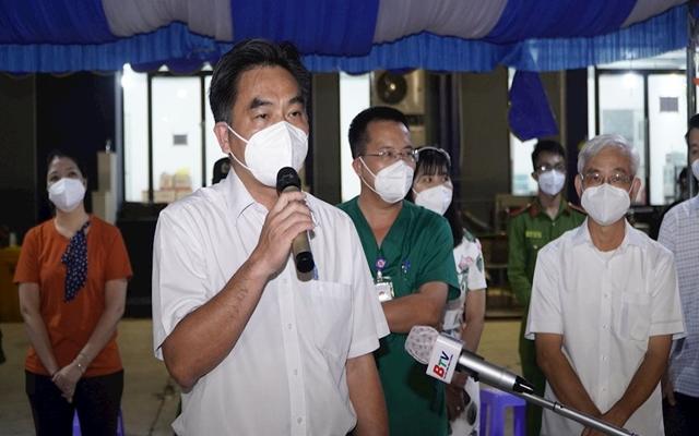 ông Nguyễn Lộc Hà, Phó chủ tịch UBND tỉnh BD-Phó Trưởng ban chỉ đạo phòng chống dịch Covid-19 tỉnh Bình Dương phát biểu.