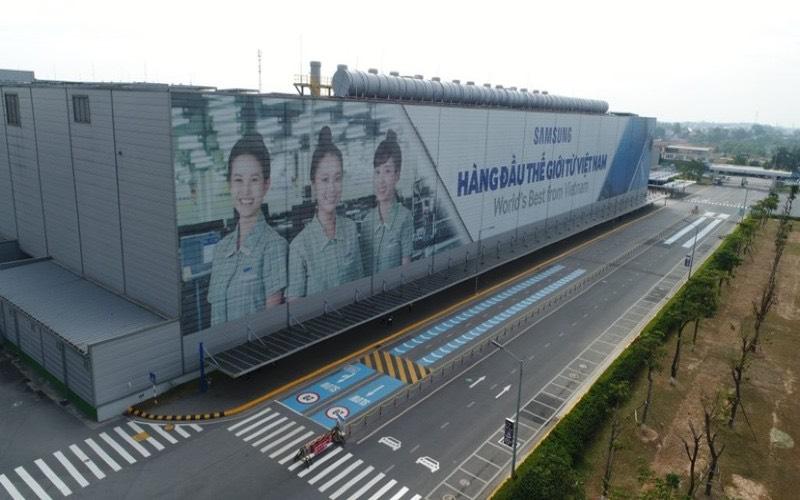 Chỉ riêng Khu tổ hợp Samsung Electronics tại Khu công nghiệp Yên Bình, Phổ Yên, tỉnh Thái Nguyên đã có diện tích thuê đất lên tới gần 150 ha.