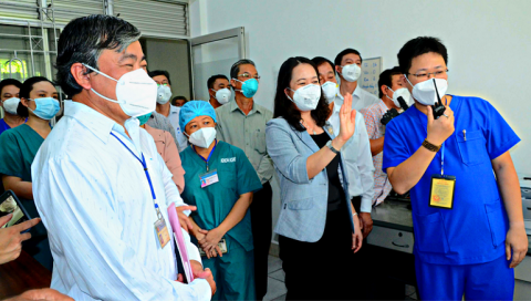 Phó Chủ tịch nước Võ Thị Ánh Xuân ghi nhận nỗ lực của tỉnh Tiền Giang trong công tác phòng , chống dịch Covid-19