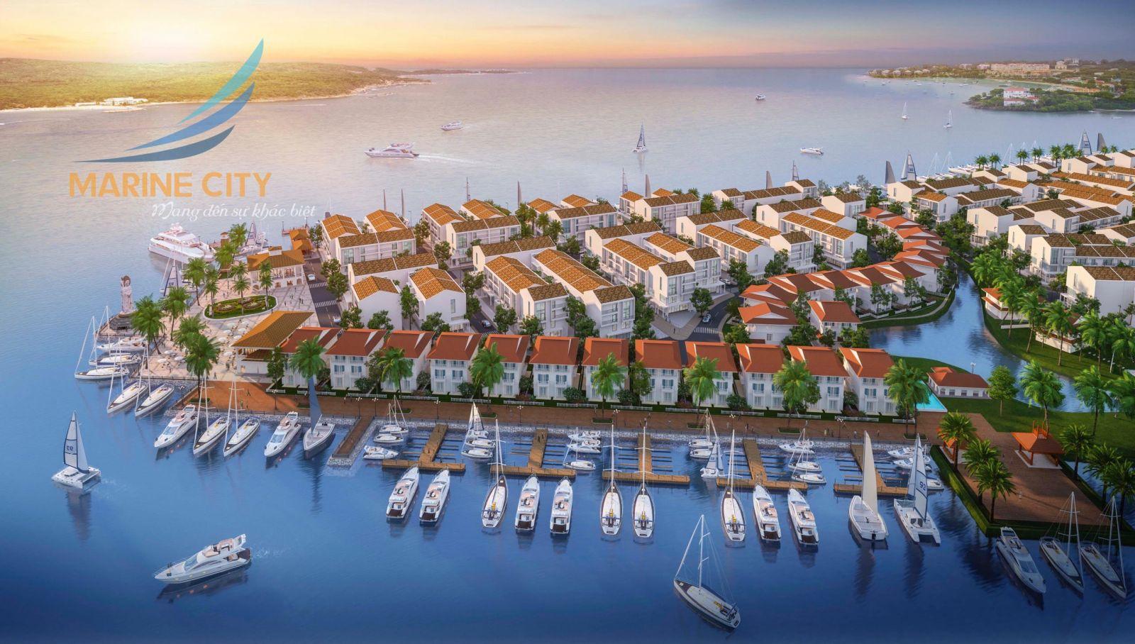 Tiềm năng về dự án Marine City dự kiến sẽ được các chuyên gia chia sẻ tại Hội thảo. Ảnh: Phối cảnh dự án