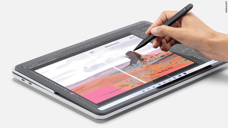 Surface Laptop Studio được thiết kế phù hợp với vẽ, thiết kế và các hoạt động sáng tạo