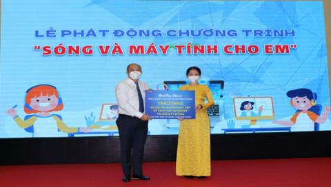 """Bình Dương: Ủy ban MTTQ Việt Nam kêu gọi hưởng ứng Chương trình """"Sóng và máy tính cho em"""""""