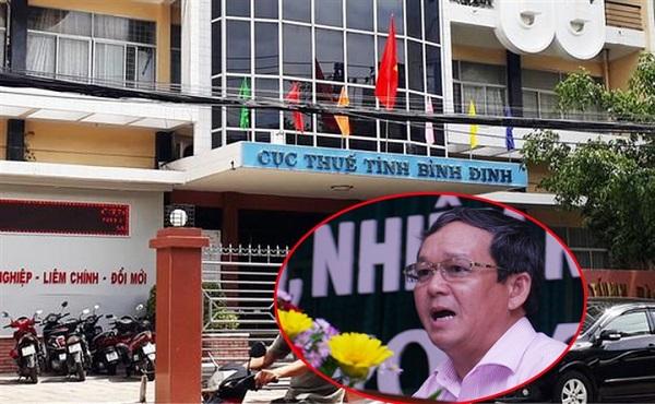 Ông Nguyễn Công Thành - Phó Cục trưởng Cục Thuế Bình Định (ảnh nhỏ) bị kỷ luật cảnh cáo và miễn nhiệm chức danh