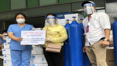 Doanh nghiệp tặng nhu yếu phẩm cho Bệnh viện Dã chiến Hồi Sức Cấp Cứu tỉnh Bình Dương