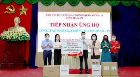 Tập đoàn BRG và Ngân hàng SeABank ủng hộ trang thiết bị y tế phòng, chống dịch Covid-19 trị giá 6 tỷ đồng cho tỉnh Hà Nam