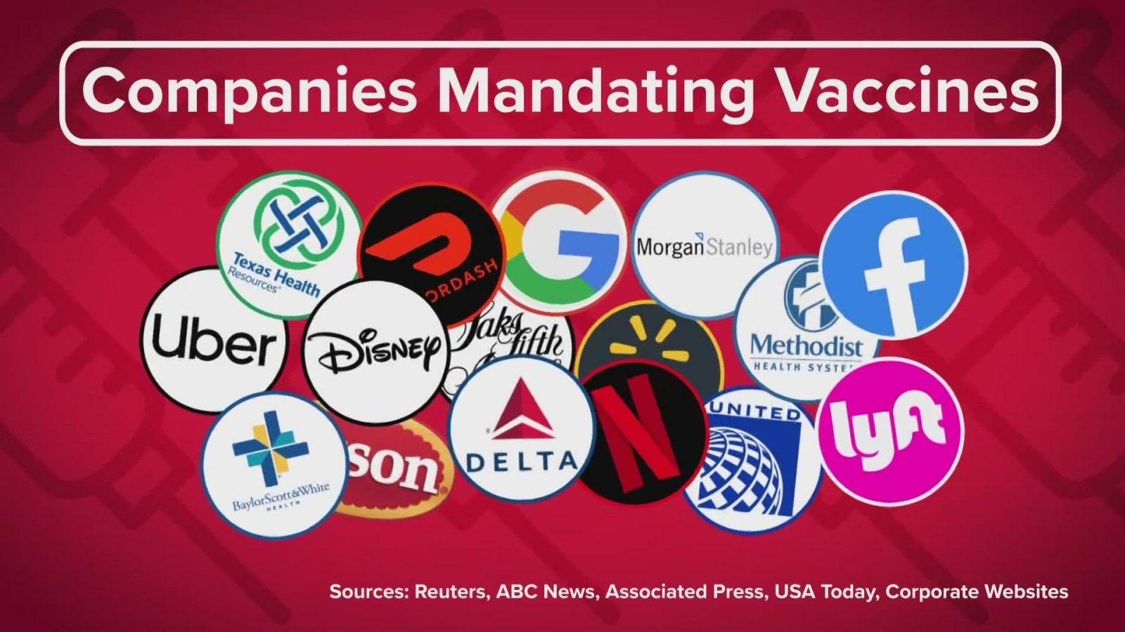 Một số công ty yêu cầu tiêm vắc xin cho nhân sự bao gồm Uber, Google, Facebook, Lyft,...