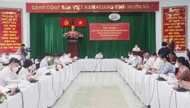 Đoàn công tác của TPHCM do Bí thư Thành ủy Nguyễn Văn Nên làm trưởng đoàn làm việc với lãnh đạo TP Thủ Đức