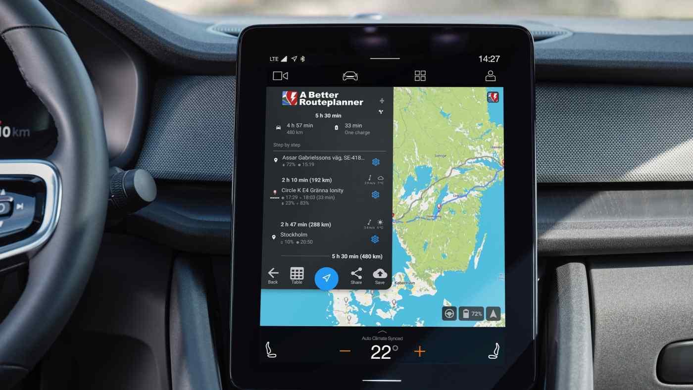 Volvo là hãng đầu tiên áp dụng hệ điều hành Android Automotive của Google trên ô tô của mình, như đã thấy trong chiếc xe điện này. (Ảnh: Volvo Cars)