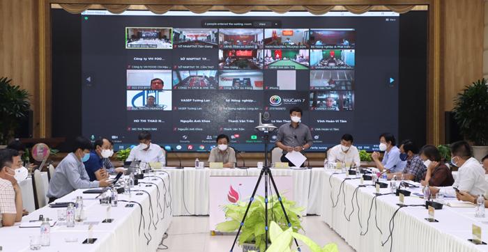 Bí thư Tỉnh ủy Lê Quốc Phong phát biểu tại điểm cầu tỉnh Đồng Tháp