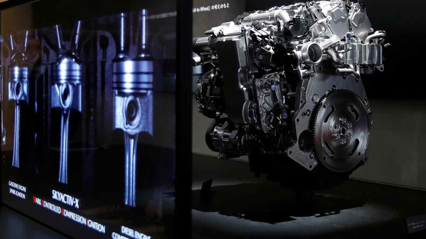 Động cơ Skyactiv-X của Mazda Motor: Nhà sản xuất ô tô này là công ty dẫn đầu ngành công nghiệp ở Nhật Bản trong việc áp dụng phát triển dựa trên mô hình. © Reuters
