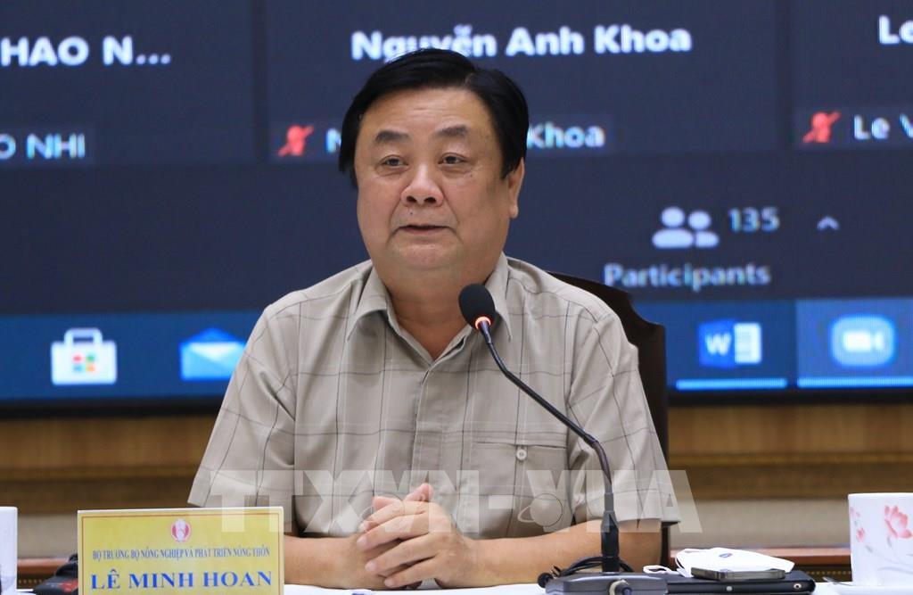 Bộ trưởng Bộ Nông nghiệp & PTNT Lê Minh Hoan, phát biểu và chủ trì hội nghị tại điểm cầu Đồng Tháp