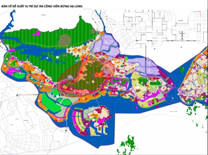 Vị trí đề xuất dự án Công viên rừng Hạ Long. (Nguồn: halongcity.gov.vn).