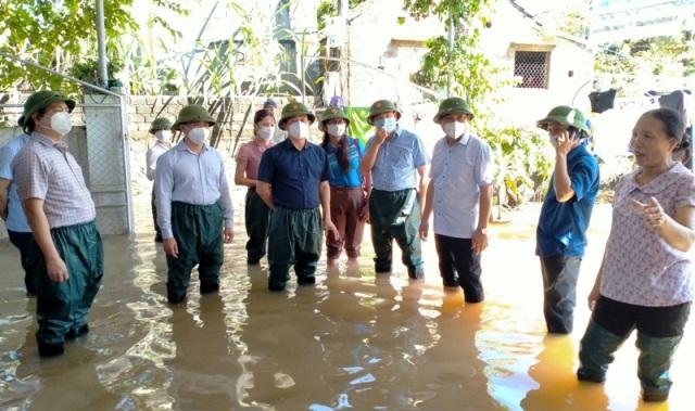 Nghệ An: Tổng Cục phòng chống thiên tai Trung ương kiểm tra, chỉ đạo khắc phục thiệt hại do ngập lụt tại huyện Quỳnh Lưu
