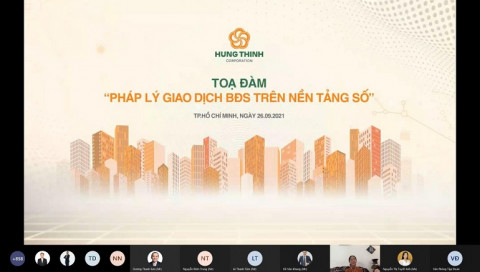 """Hưng Thịnh tổ chức tọa đàm trực tuyến với chủ đề """"Pháp lý giao dịch bất động sản trên nền tảng số"""""""