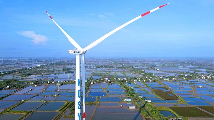 Turbine của nhà máy Điện gió Kosy Bạc