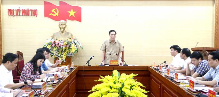 Bí thư Tỉnh ủy Phú Thọ- Bùi Minh Châu phát biểu chỉ đạo tại buổi giám sát