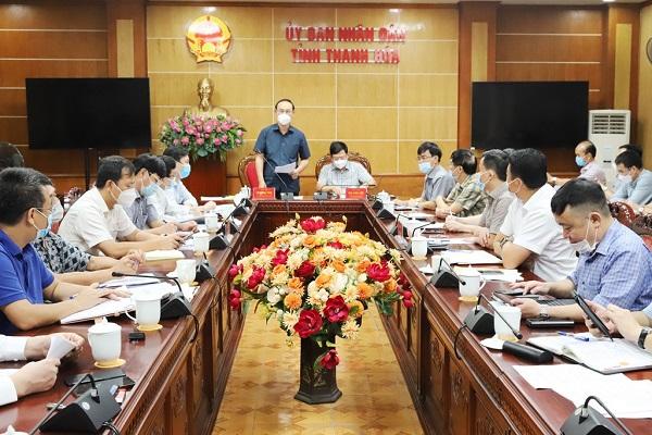 Thứ trưởng Bộ Giao thông vận tải Lê Đình Thọ trong buổi làm việc tại Thanh Hóa