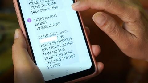 Hơn 3.500 người đã nhận tiền hỗ trợ từ gói 38.000 tỷ đồng