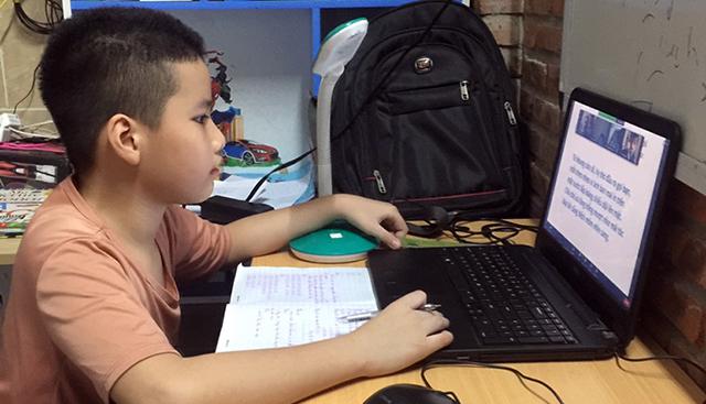 Học sinh cấp tiểu học Đà Nẵng sẽ vẫn học trực tuyến cho đến khi dịch bệnh được kiểm soát hoàn toàn.