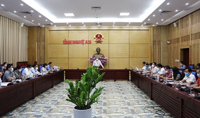 Nghệ An: Hội nghị giao ban tháo gỡ khó khăn cho doanh nghiệp khôi phục sản xuất kinh doanh