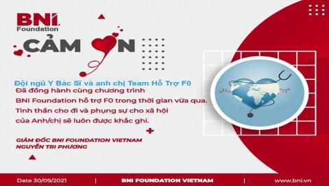 """BNI Foundation Việt Nam: Hoàn thành dự án """"Hỗ trợ bệnh nhân F0"""" tại nhà"""