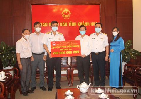 Khánh Hòa: Tiếp nhận 300 triệu đồng ủng hộ công tác phòng, chống dịch Covid-19